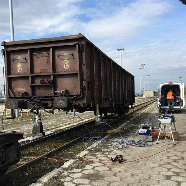 Serwis Pojazdów Kolejowych- podnośniki Lukas